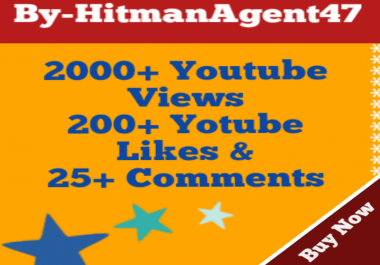20000 HR Youtube Views,200 Likes & 20 Comments  Fast Life Time Guarantee