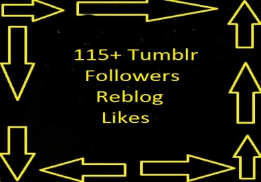 Save money 120++ USA Tumblr Followers  Within 12-24 hours only for your profile on scoclerk $1