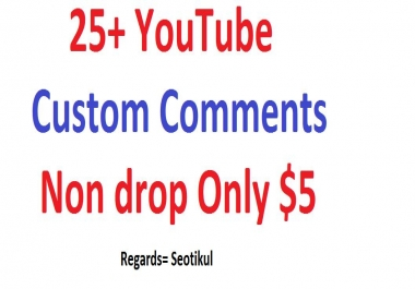 25+ Custom youtube comments non drop