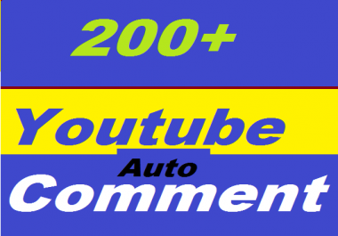 200+ YouTube Auto Comments Or 950+ YouTube Likes Or 200+ YouTube Subscribers Non Drop Give You