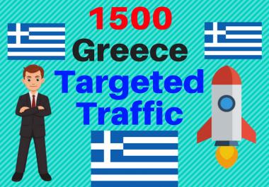 1500 Greece TARGETED Human traffic to your web or blog site Get Adsense safe Good Alexa rank