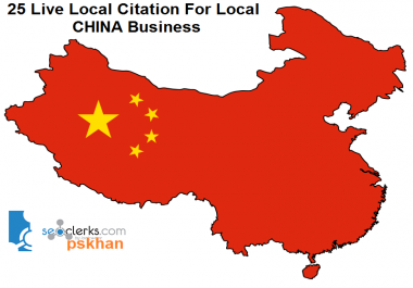 Create 25 Live Local Seo Citations For Local CHINA Business