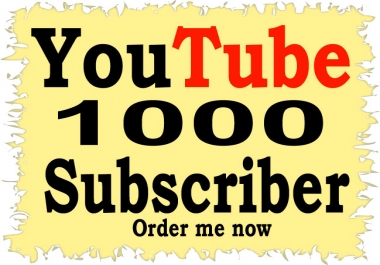 Safe 1000+ YouTube Subscribers Or 1500 YouTube Like refill