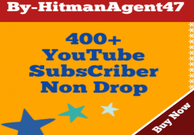 400+ YouTube Channel Subs criber Fast 100% Non Drop