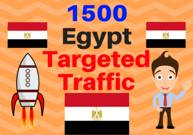 1500 Egypt TARGETED traffic to your web or blog site. Get Adsense safe and get Good Alexa rank