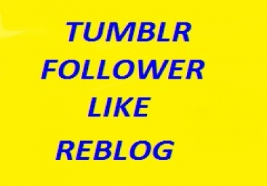160 Tumblr followers or likes or reblogs in cheap rate
