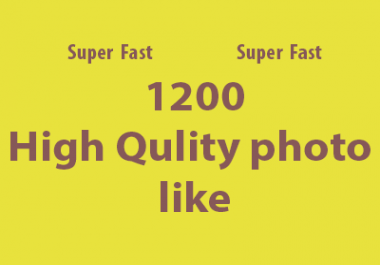 Super Fast 1500 high quality photo like on your post