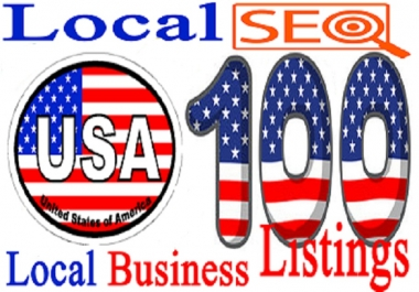 I will Create 100 USA Live Local  CITATION for Local SEO