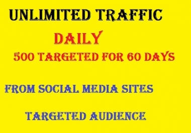 Unlimited TARGETED real human Website TRAFFIC for 2 months