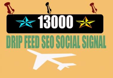 Create 13000 Permanent Seo Social Signals