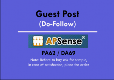 Publish Guest Post On Apsense DA65 with Dofollow Backlinks
