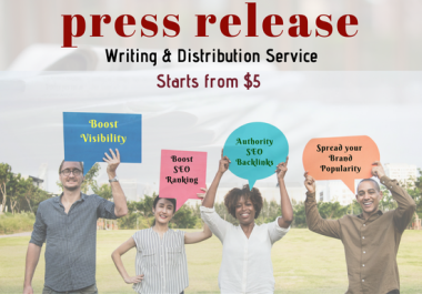 Write An SEO Press Release, Distribute To 50 Sites With Contextual Backlinks