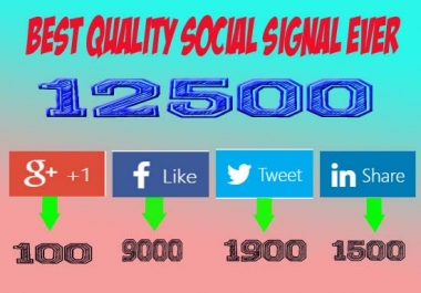 12500 Most Powerful social signal Just