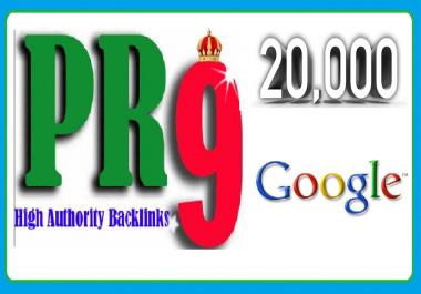 collect 2000 pr9 back links for your website on google