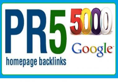 make 5000 pr5 back links for your website on google