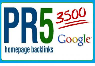 Collect 3500 pr5 back links for your website on google