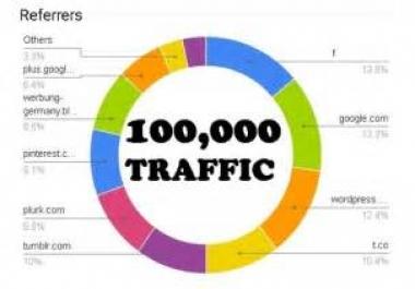 drive 100,000 keyword targeted website traffic