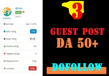 4X DA80+ Include .EDU Guest Post
