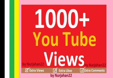 Safe 1000+Non Drops YouTube Views in complete