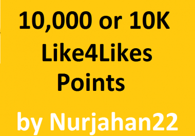 Safe/powerfull  10,000Like4Likes Points with in fast delivery