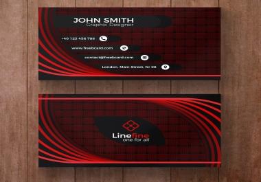 Design 2 unique business card and letterhead