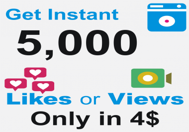 Add Superfast 5000 likes or views on your post picture or video