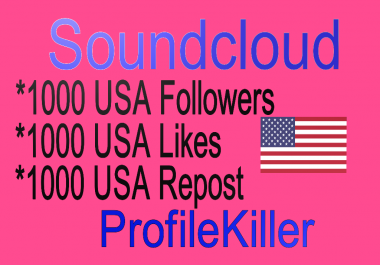 1000 USA Followers For Your Soundcloud Profle