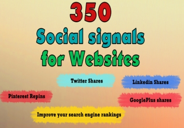 350 Social Signals for your Website URL, Social Bookmarks, The best Social Signals service