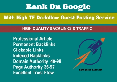 Skyrocket Your Ranking With HQ Dofollow Backlinks, 2017 Update