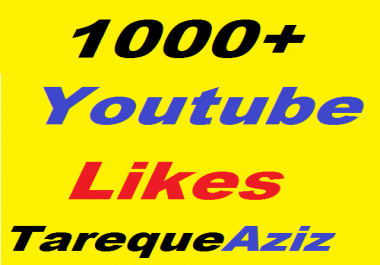 1200+ Real Youtube Video Likes give you