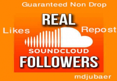 [Guaranteed Non Drop] 300+ Real Soundcloud Followers or Likes or Repost