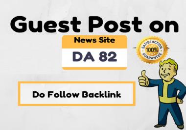 Do Guest Post On High Authority News Site DA 82 dofollow link