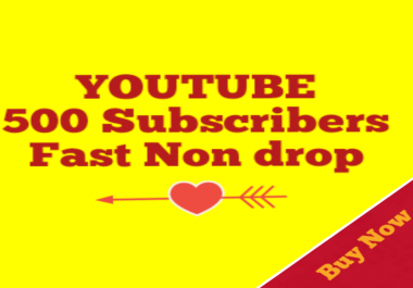 500+YouTube Subscribers Increase Your YouTube Channel