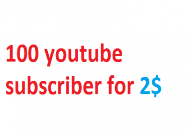 Start instant 100 YouTube subscriber non drop