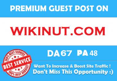 Publish Premium Guest Post On Wikinut Wikinut.com DA 67