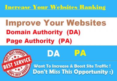 Increase Your Websites DA, PA 20+