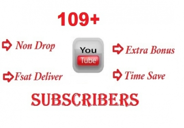 Get Buy 109+ YouTube Channel Subscribers