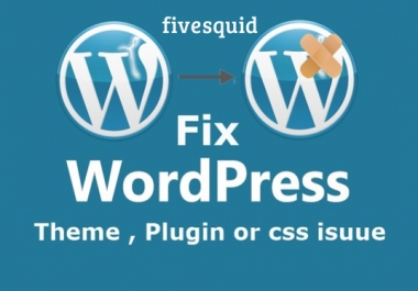 Fix Any Wordpress Errors And Html, Css Issues