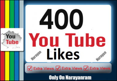 Get 400  YoTtube Real Likes Instant Start only