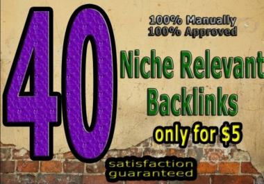 Do 40 Niche Relevant Blog Comment