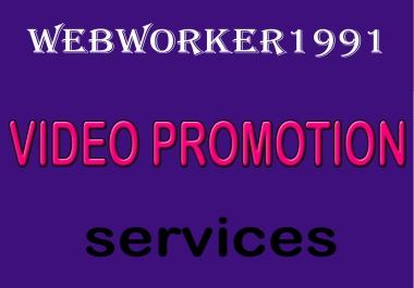 service  YouTube Video Marketing social Media Promotion