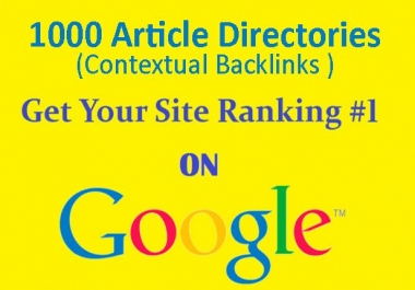 do 1000 Contextual Backlinks from Article Directories