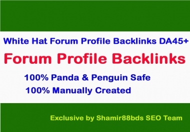 Skyrocket Website or Video With 30 White Hat Forum Profile Backlinks - DA45+