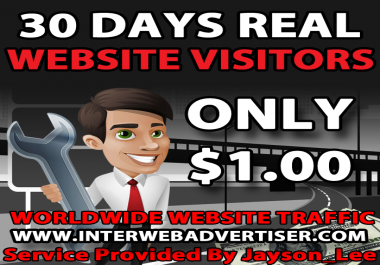 1 Month Web Traffic To Your Website, Blog or Affiliate Link