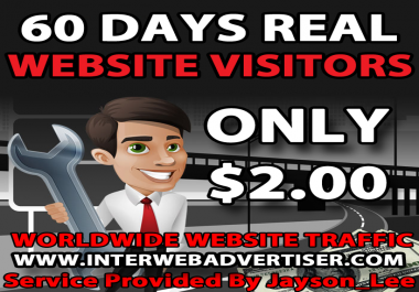 2 Months Web Traffic To Your Website, Blog or Affiliate Link
