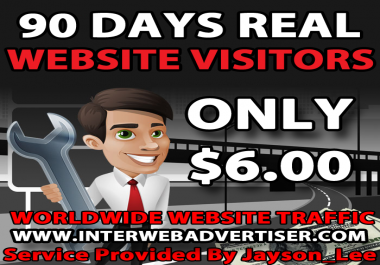 3 Months Web Traffic To Your Website, Blog or Affiliate Link