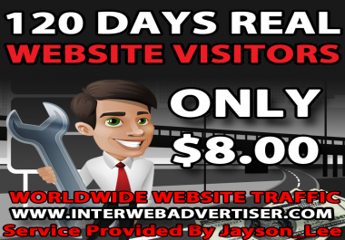 4 Months Web Traffic To Your Website, Blog or Affiliate Link