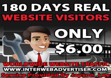 6 Months Web Traffic To Your Website, Blog or Affiliate Link