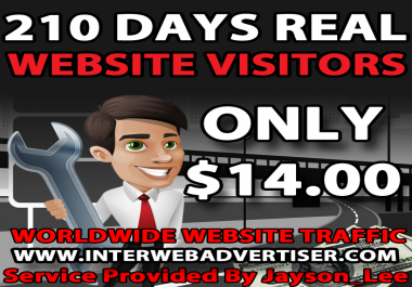 7 Months Web Traffic To Your Website, Blog or Affiliate Link
