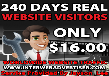 8 Months Web Traffic To Your Website, Blog or Affiliate Link